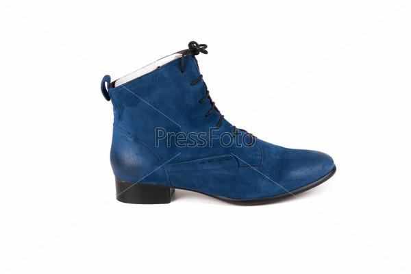 Фотография на тему Синие женские ботинки