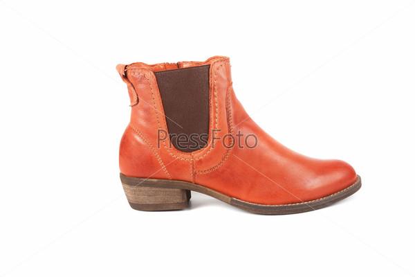 Коричневые женские ботинки