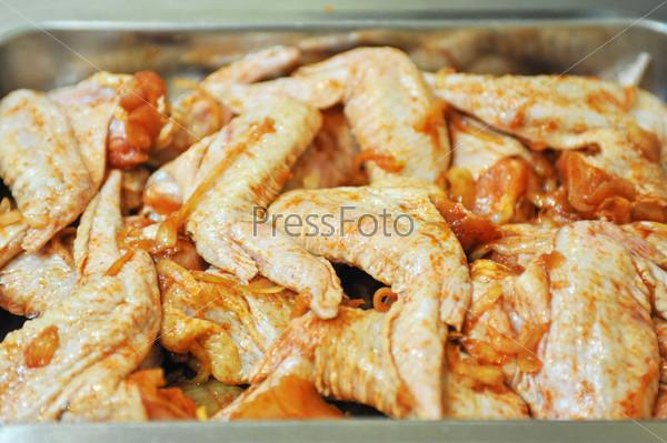 Маринованная курица, шашлык