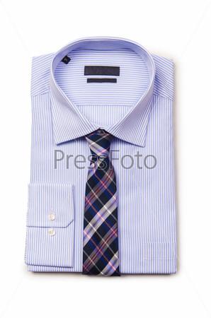 Фотография на тему Мужская рубашка, изолированная на белом