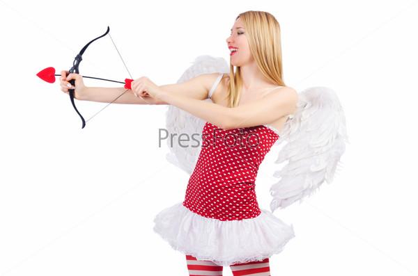Фотография на тему Женщина с луком в концепции Дня Св. Валентина