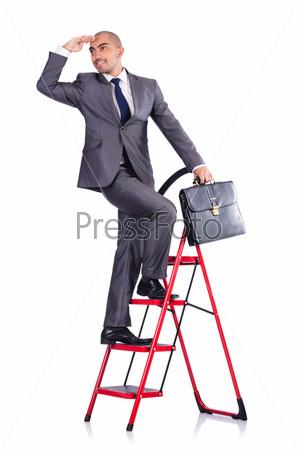 Бизнесмен в концепции карьеры