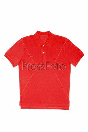 Фотография на тему Мужская футболка, изолированная на белом фоне