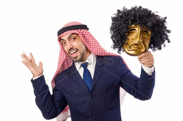 Арабский бизнесмен в концепции лицемерия