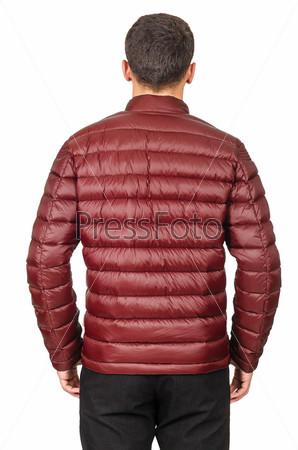 Мужская куртка, изолированная на белом фоне