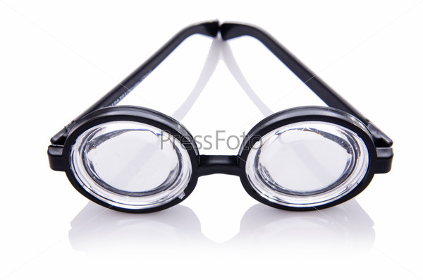 Фотография на тему Смешные очки, изолированные на белом фоне