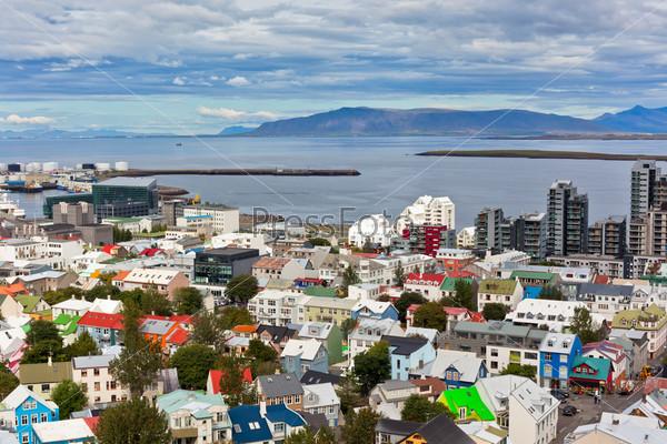 Столица Исландии Рейкьявик, панорама