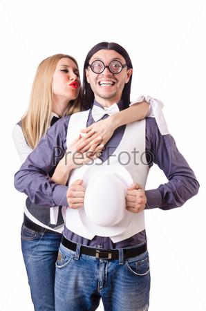 Пара в концепции веселой любви