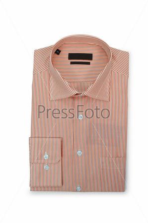 Фотография на тему Красивая мужская рубашка, изолированная на белом фоне