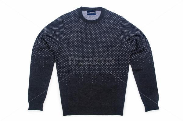 Фотография на тему Мужской свитер, изолированный на белом фоне