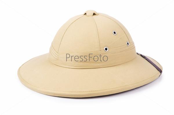 Фотография на тему Шляпа для сафари, изолированная на белом