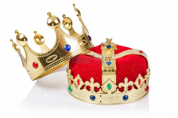 Фотография на тему Королевская корона, изолированная на белом