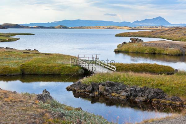 Озеро Миватн в Северной Исландии