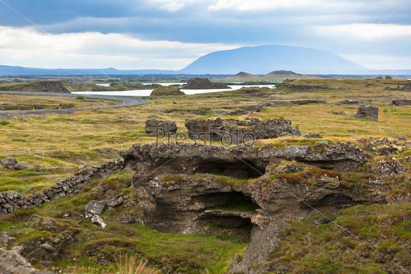 Фотография на тему Озеро Миватн в Северной Исландии