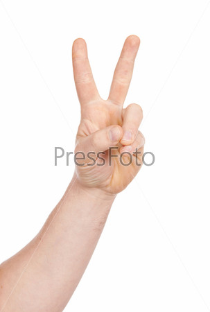 Жесты руки на белом фоне