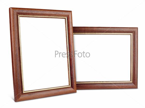 Две простые деревянные рамы с тенью