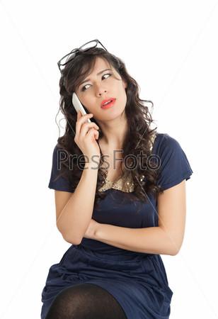 Фотография на тему Женщина с мобильным телефоном
