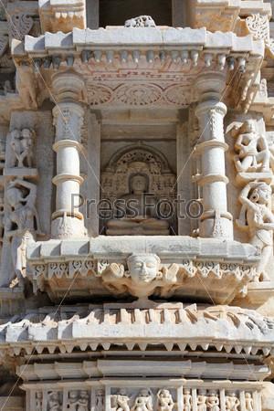 Индуистский храм Ранакпур, фрагмент