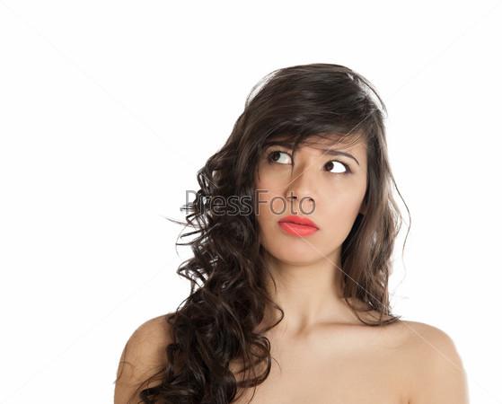 Портрет гримасничающей женщины