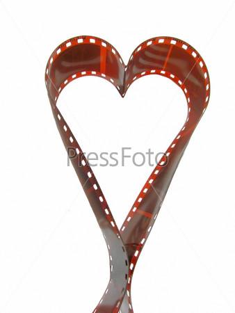Фотопленка в форме сердца