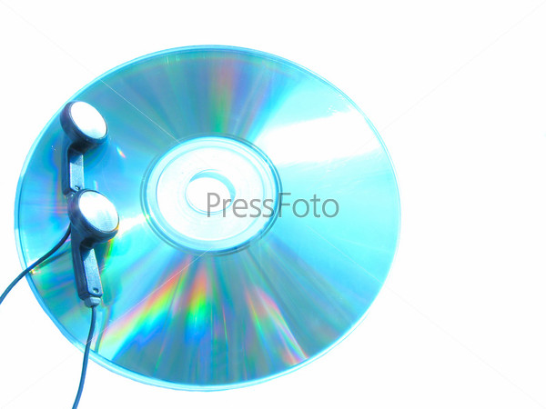 Наушники на диске