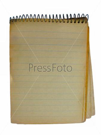 Фотография на тему Потрепанная тетрадь