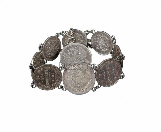 Браслет из старых монет