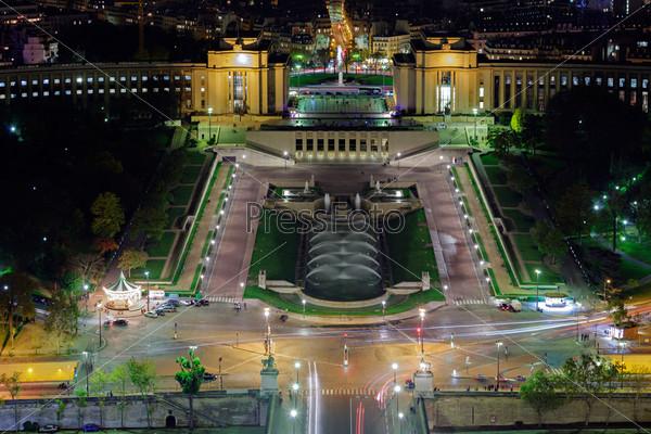 Фотография на тему Город Париж ночью