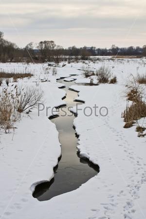 Фотография на тему Зимний поток
