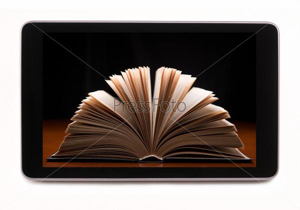 Фотография на тему Книжный магазин в планшетном компьютере