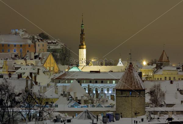Огни зимнего Старого Таллина