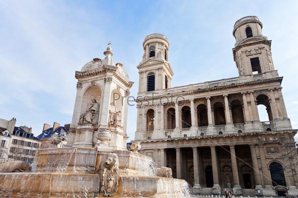 Фотография на тему Фонтан Сен Сюльпис, Париж