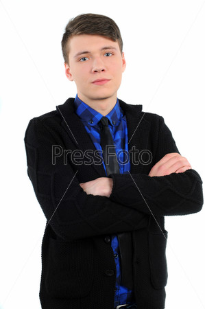 Фотография на тему Мужчина в повседневной одежде, изолированный на белом фоне