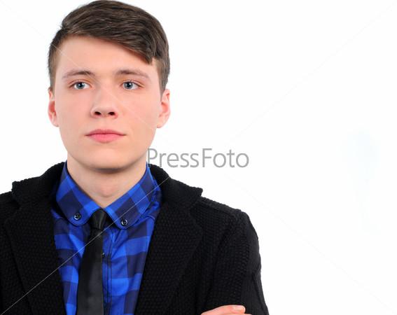 Мужчина в повседневной одежде, изолированный на белом фоне