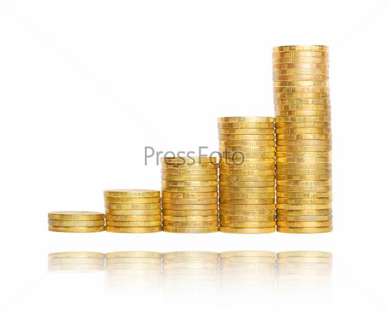Фотография на тему Диаграмма из золотых монет