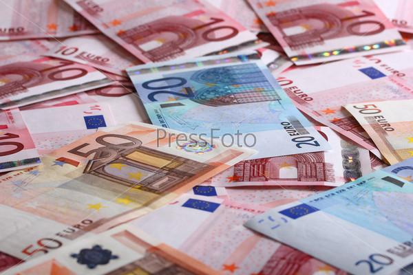 Фотография на тему Много евро для фона