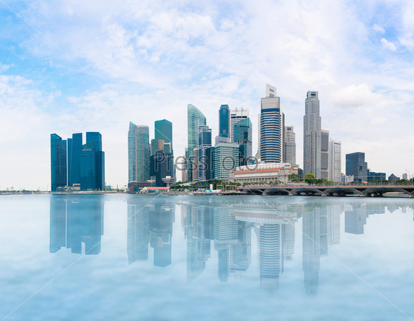 Фотография на тему Панорама Сингапура и залива