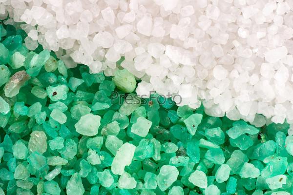 Фотография на тему Соль, зеленый и белый фон