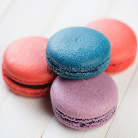Французское миндальное печенье, крупный план