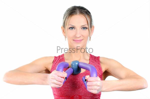 Фотография на тему Женщина занимается фитнесом