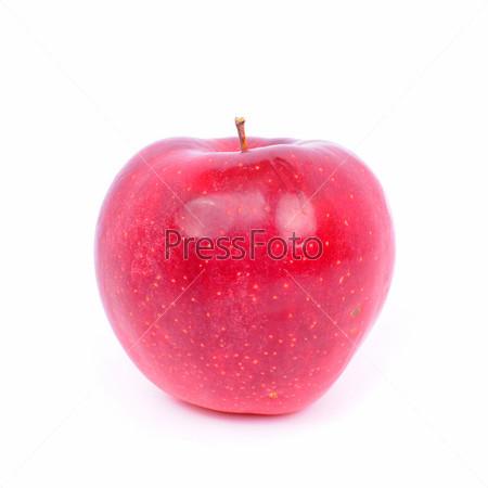 Фотография на тему Свежее красное яблоко