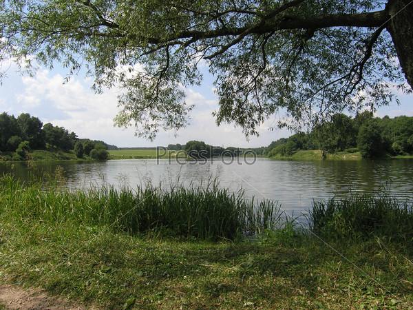Сухановский пруд на реке Гвоздянка, Московская область, Ленинский район, деревня Суханово