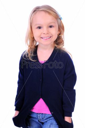 Портрет ребенка на белом фоне