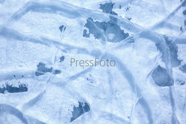 Текстура льда на Байкале