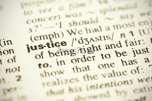 Фотография на тему Определение слова «Справедливость» на английском языке в словаре