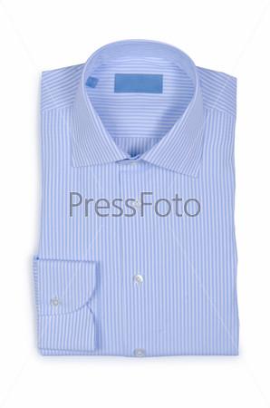 Фотография на тему Красивая мужская рубашка, изолированная на белом
