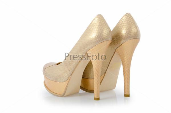 Женские туфли, изолированные на белом