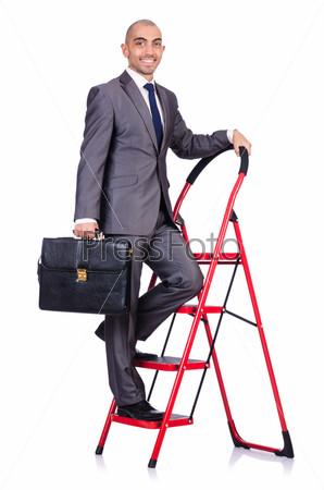Фотография на тему Бизнесмен в концепции карьеры