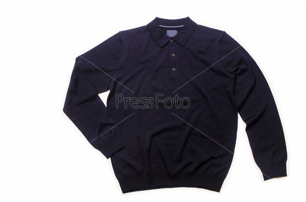 Мужской свитер, изолированный на белом