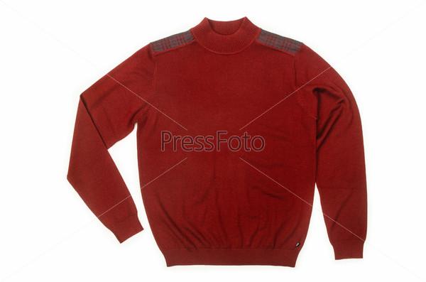 Фотография на тему Мужской свитер, изолированный на белом